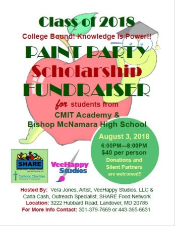 Paint Party Scholarship Fundraiser @ SHARE Food Network | Hyattsville | Maryland | United States